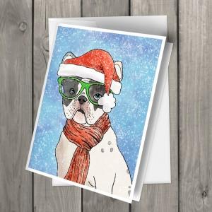 SantaFrenchbulldog